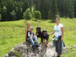 Iris, Baika, Daniel, Ares und ich bei unserer Wanderung!