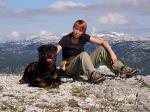 Ares und ich am Gipfel